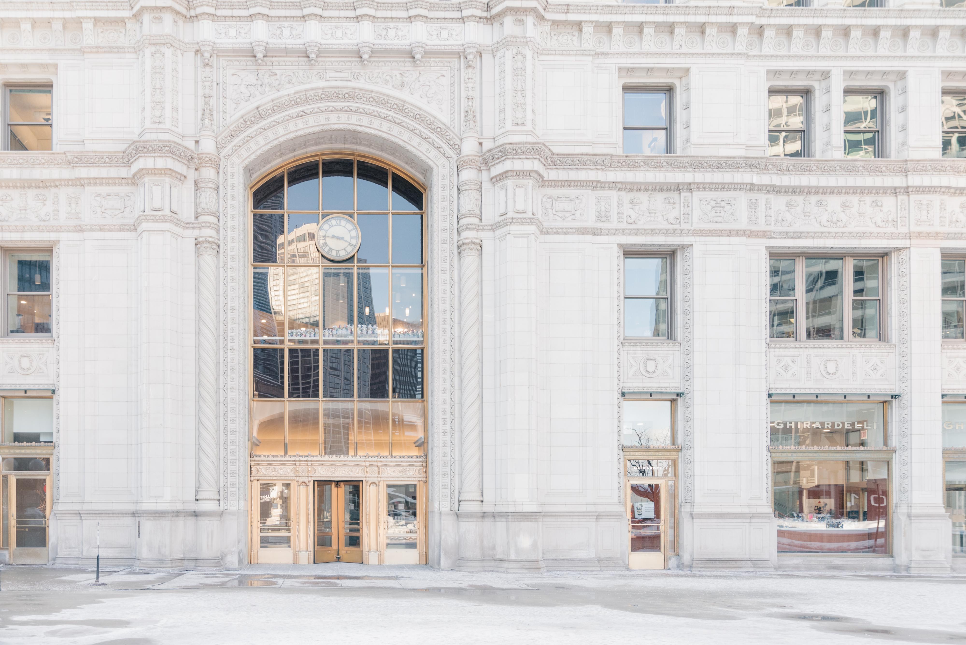 Chicago's Wrigley Building Winter 2021