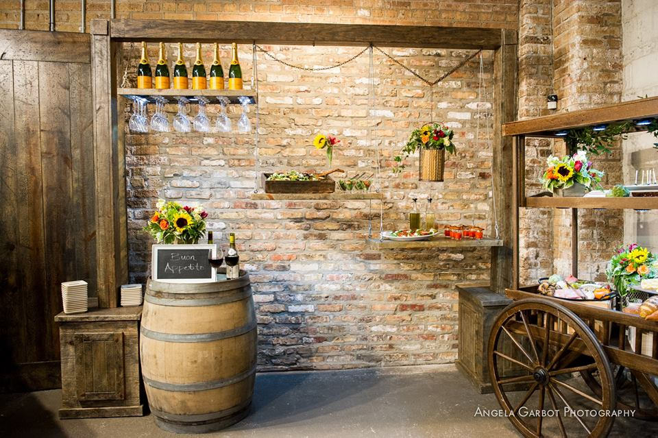 Aged Farm Collection with Wine Barrel