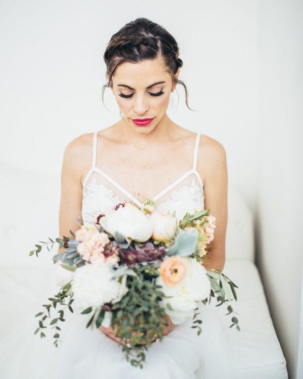 Chicago Bride in BHLDN Dress
