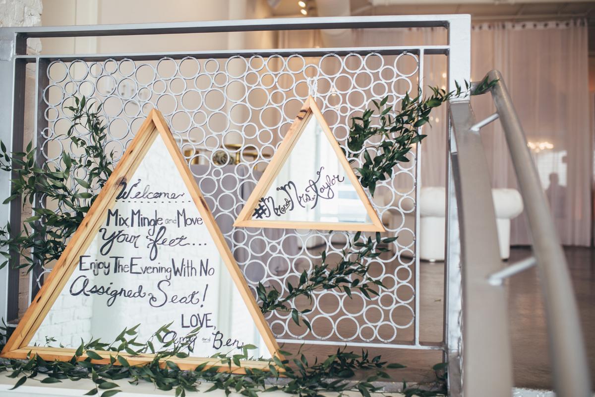 Geometric Wedding Details