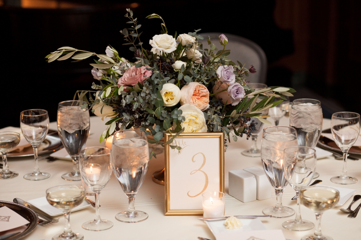 Pastel Centerpiece Chicago Wedding