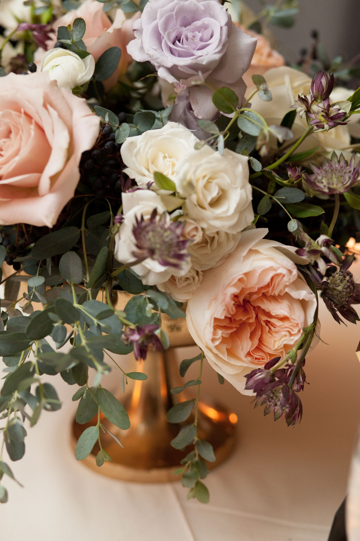 Garden Rose Centerpiece Fleur Inc