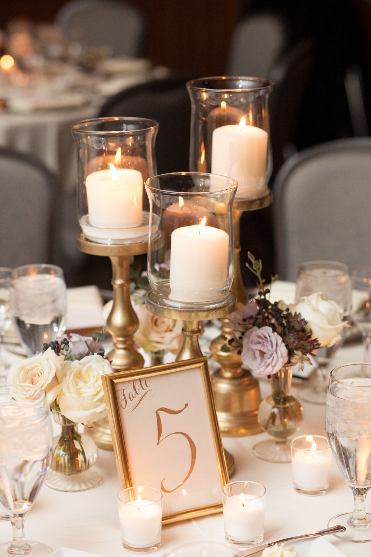 Candlelight Wedding Table Fleur Chicago