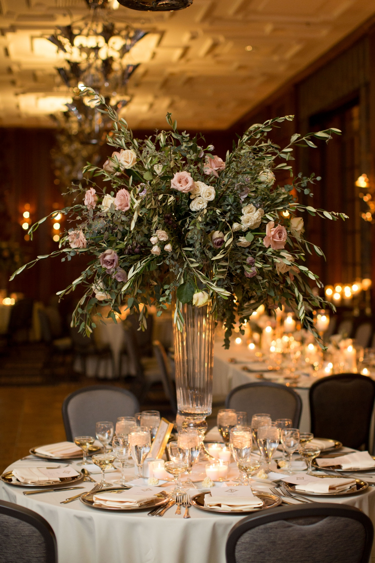 Tall Romantic Centerpiece Fleur Inc