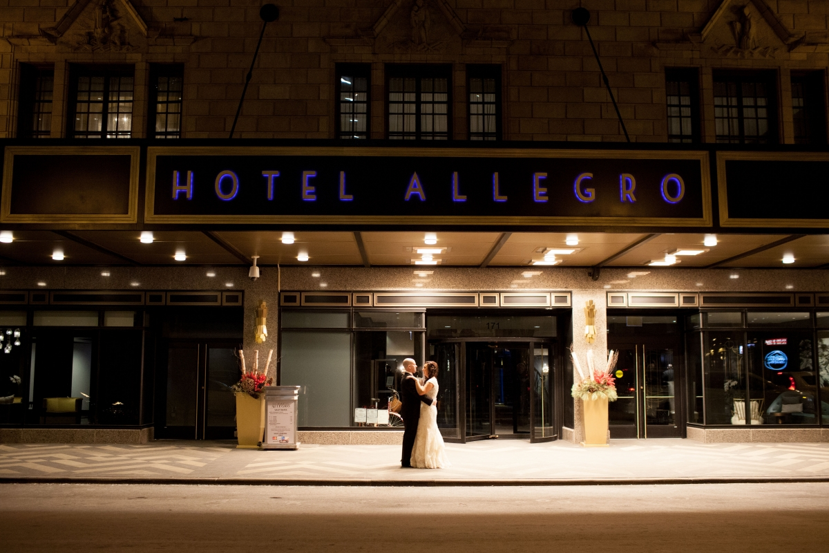 Winter Wedding Hotel Allegro Chicago