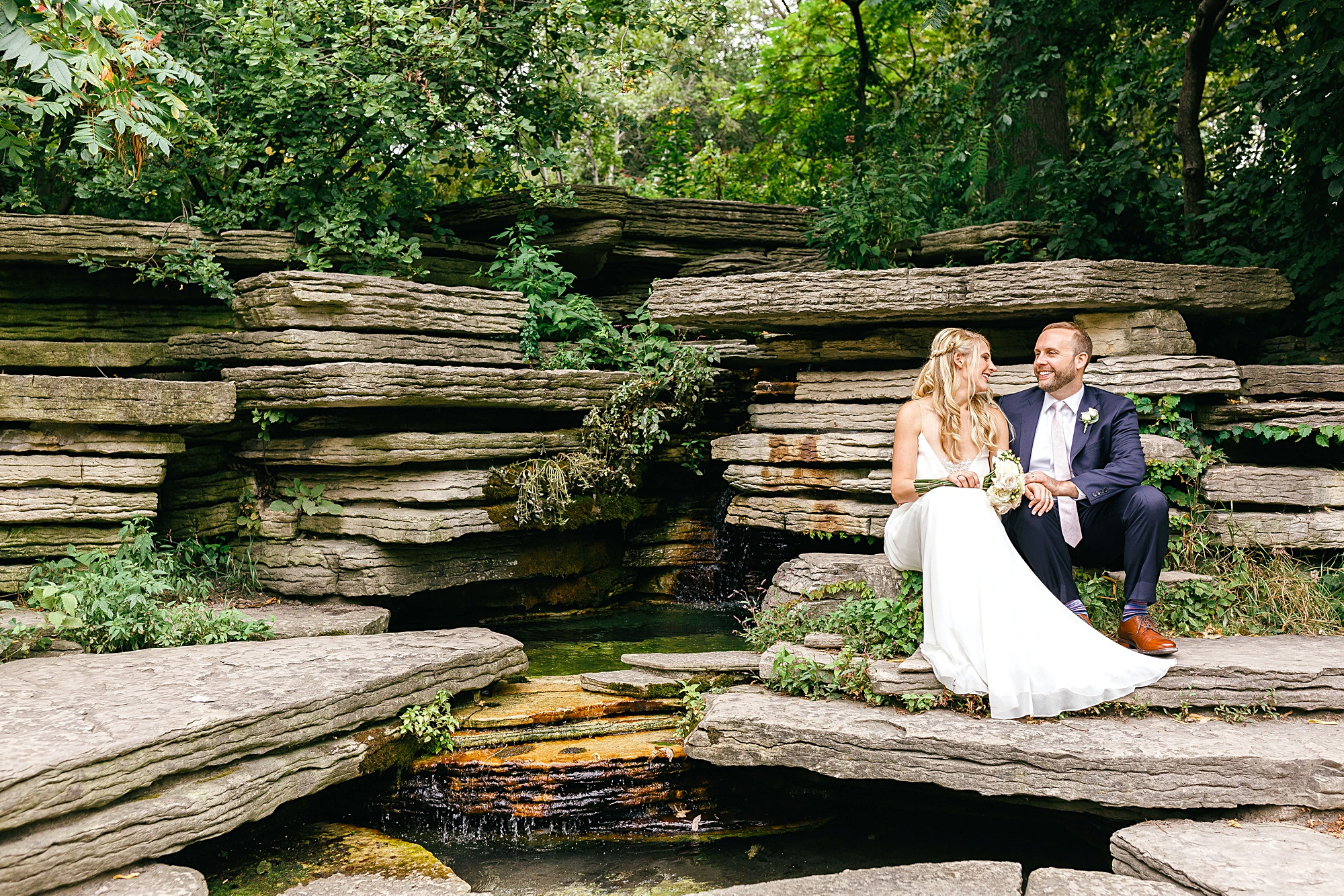 Sarah + Lance, Alfred Caldwill Lily Pool, Chicago Wedding, 2017