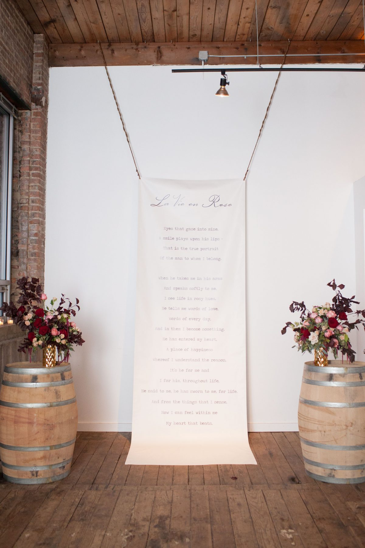 Calligraphy Wedding Ceremony Backdrop