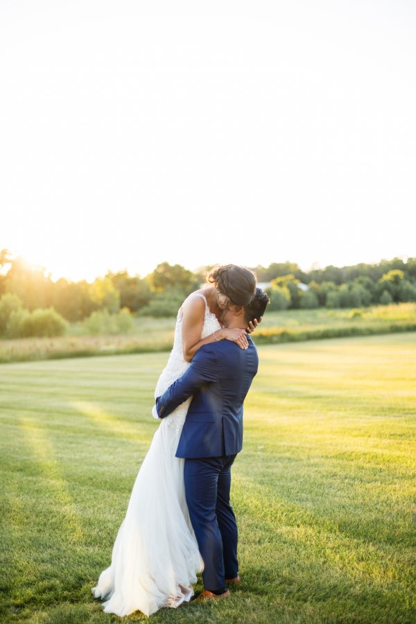 Outdoor Romantic Wedding at The Pavilion at Orchard Farms