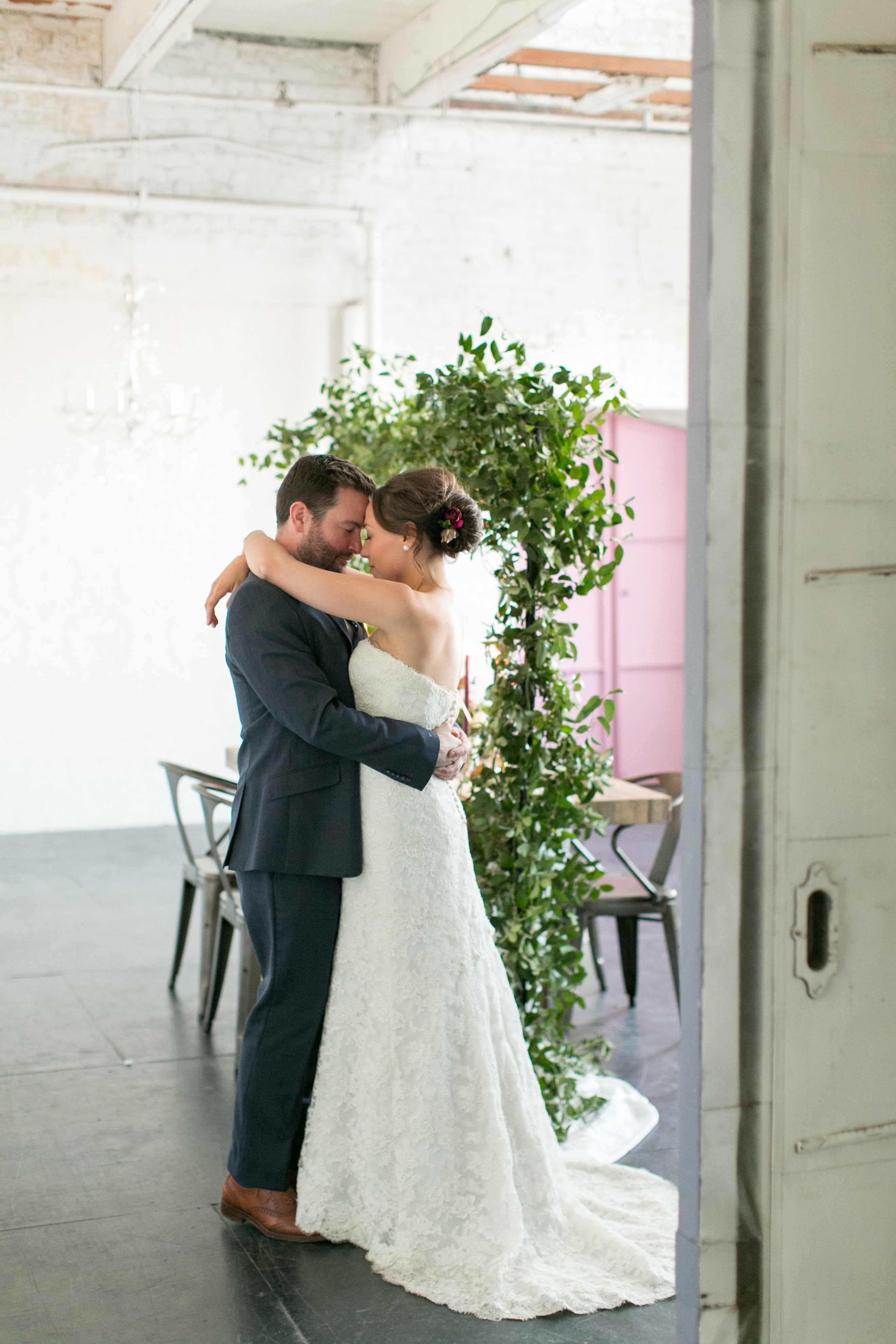 Fresh Plum + Mauve Loft Wedding Inspiration