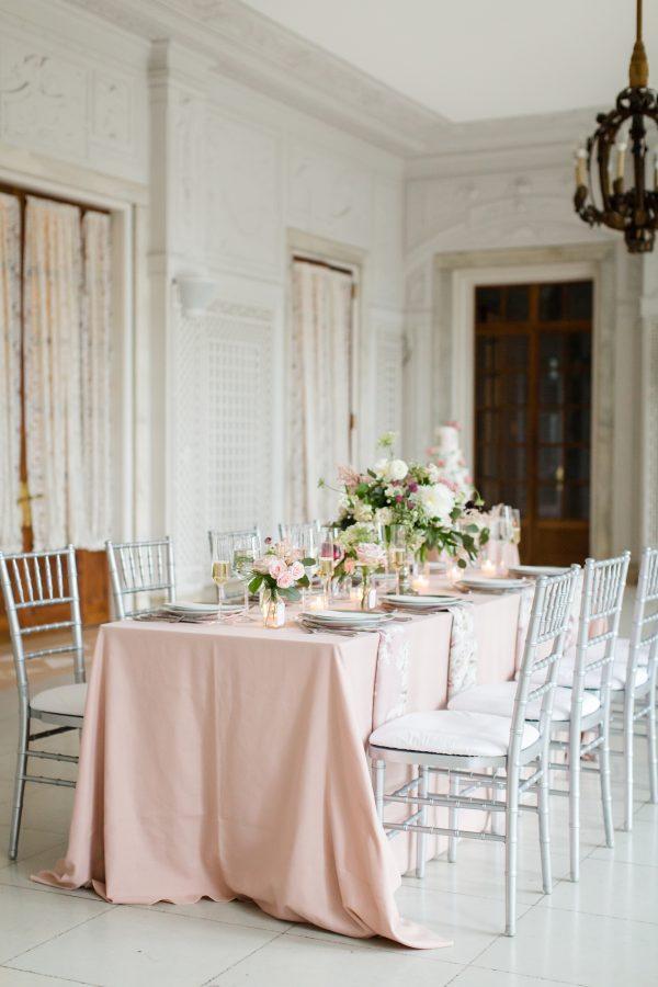 Elegant Blush Wedding Inspiration Armour House Lake Forest (17)