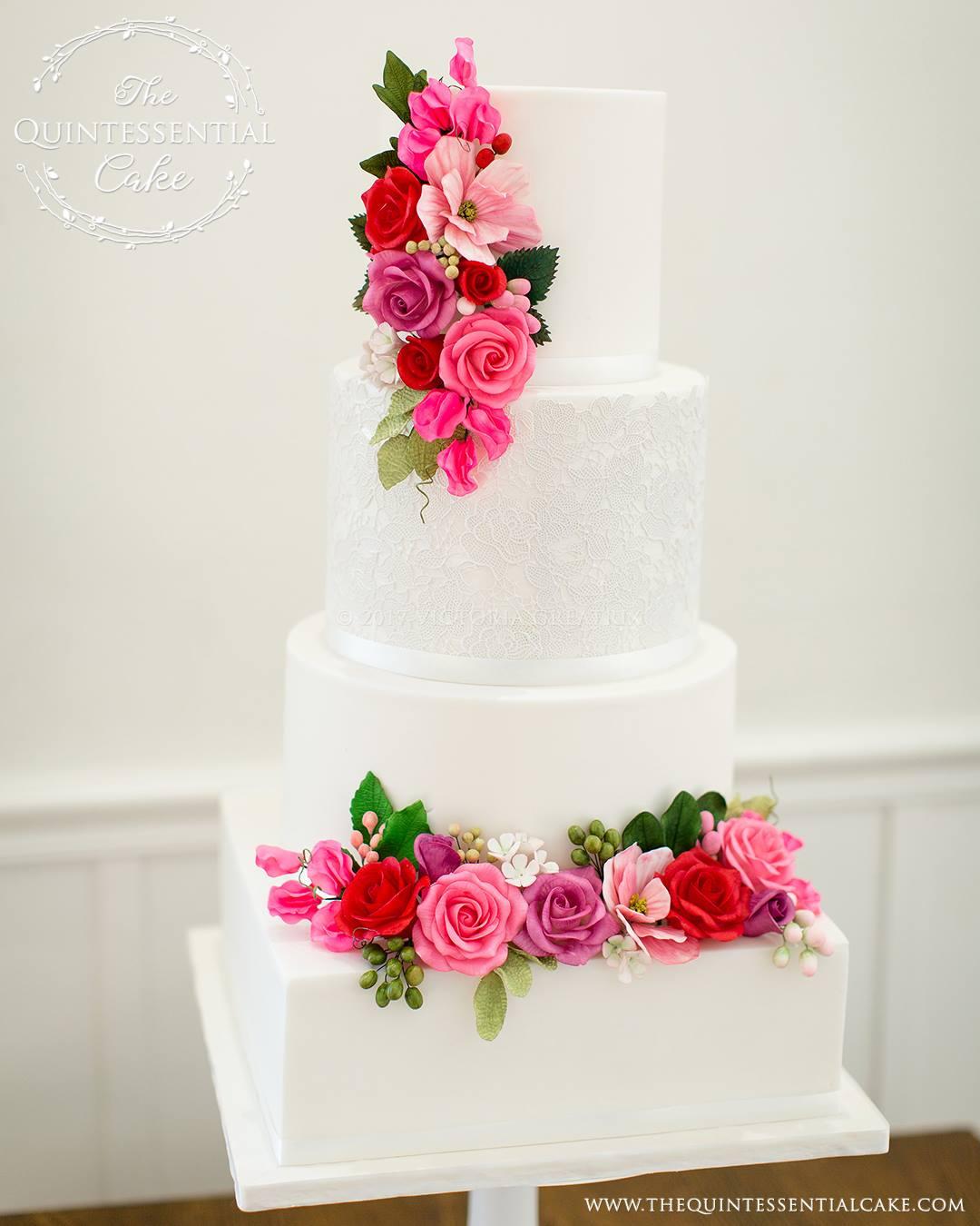 TQC Floral & Lace Cake