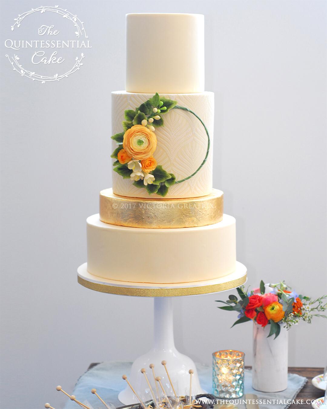 TQC Flower Hoop Cake
