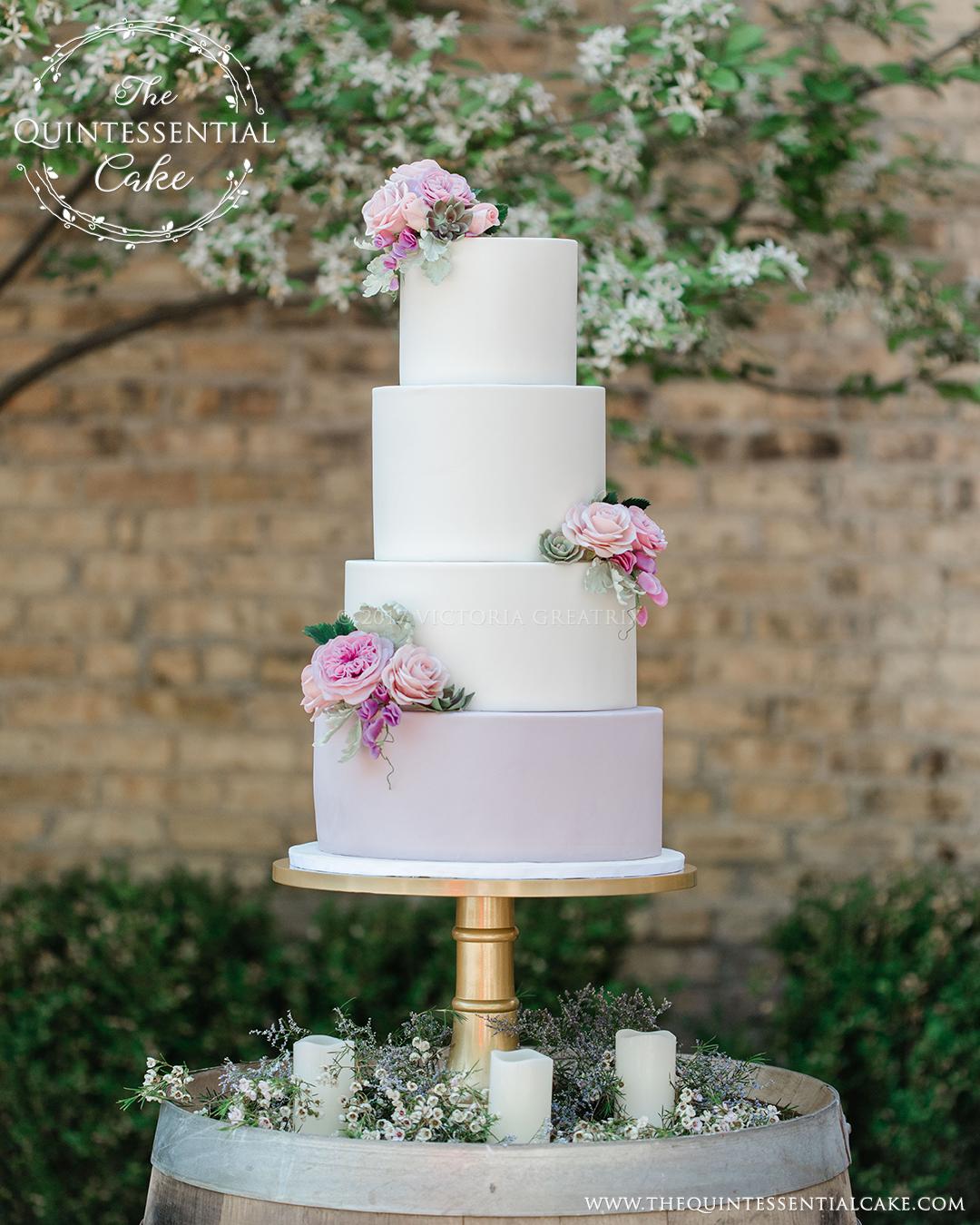 TQC Romantic Mauve & Pink Cake