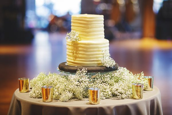 Wedding Cake with Baby's Breath