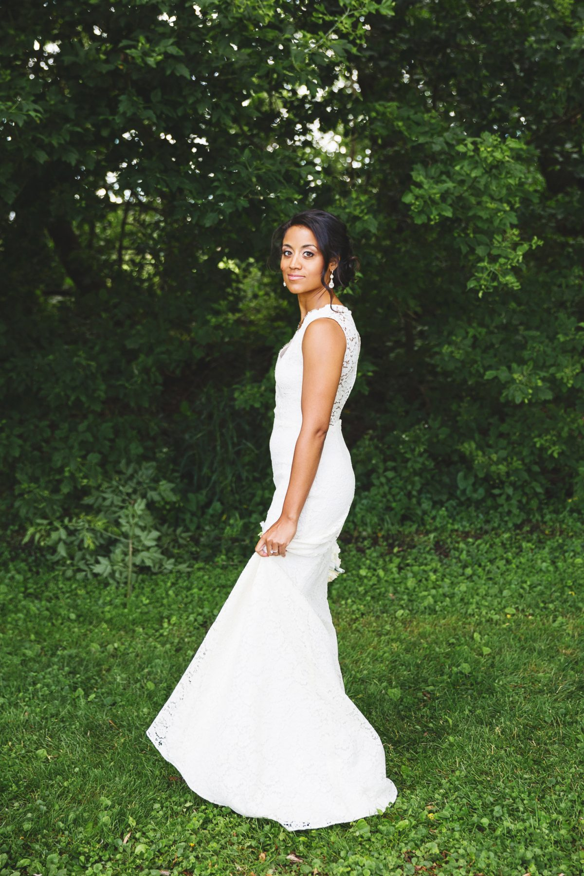 Chicago Bride in Sarah Seven