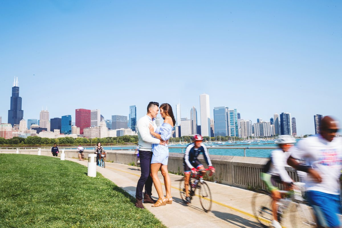 Colorful Chicago Engagement Session