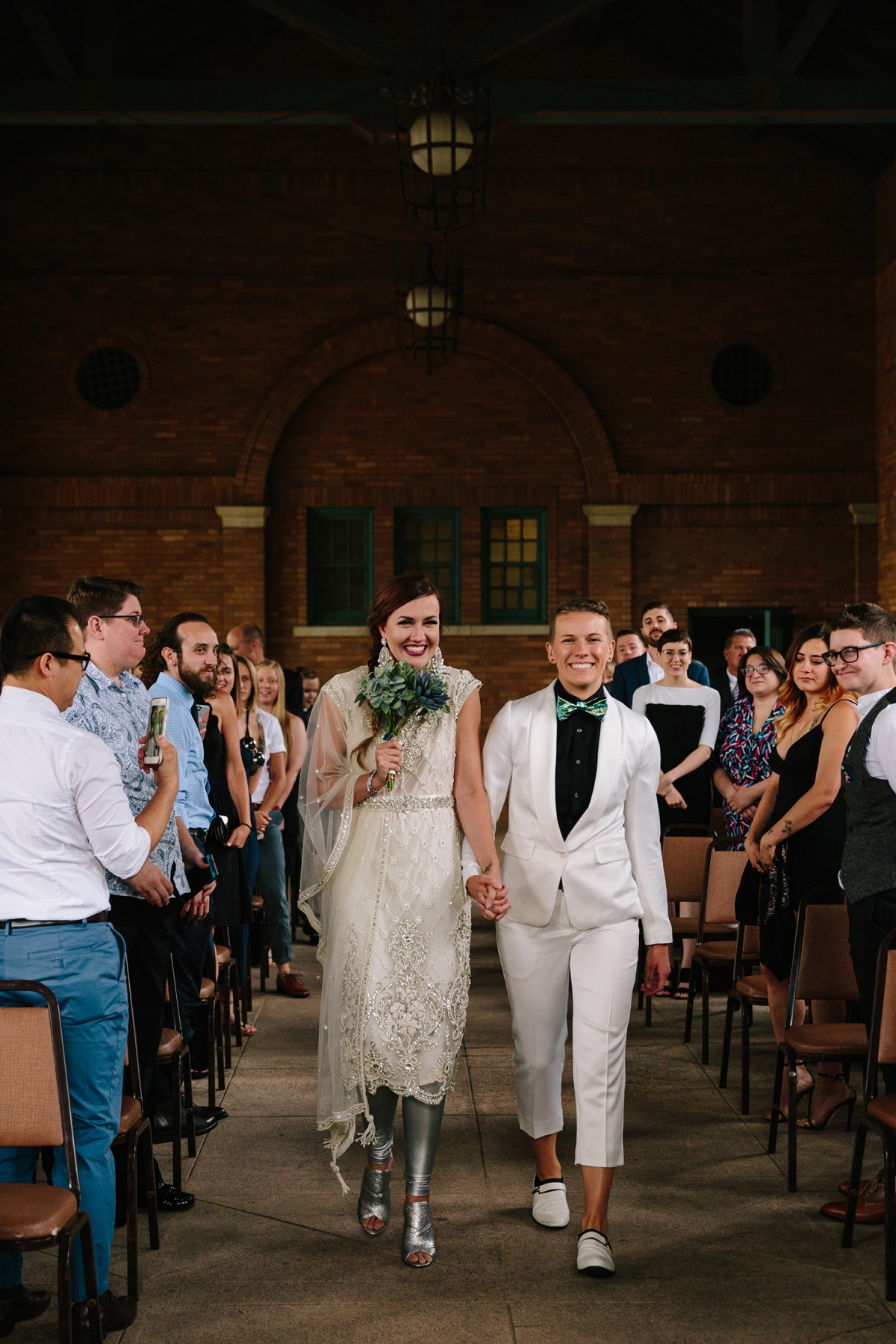 Columbus Park Refectory Wedding Chicago Two Brides