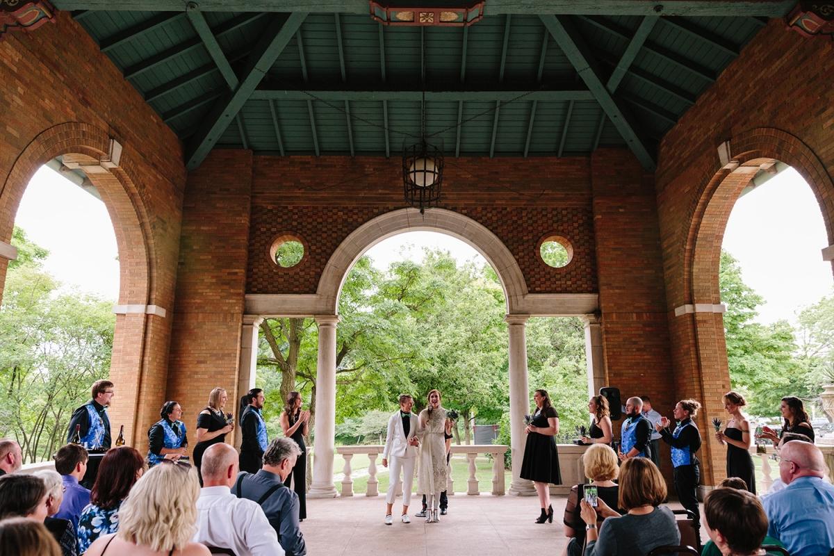 Columbus Park Refectory Wedding Chicago