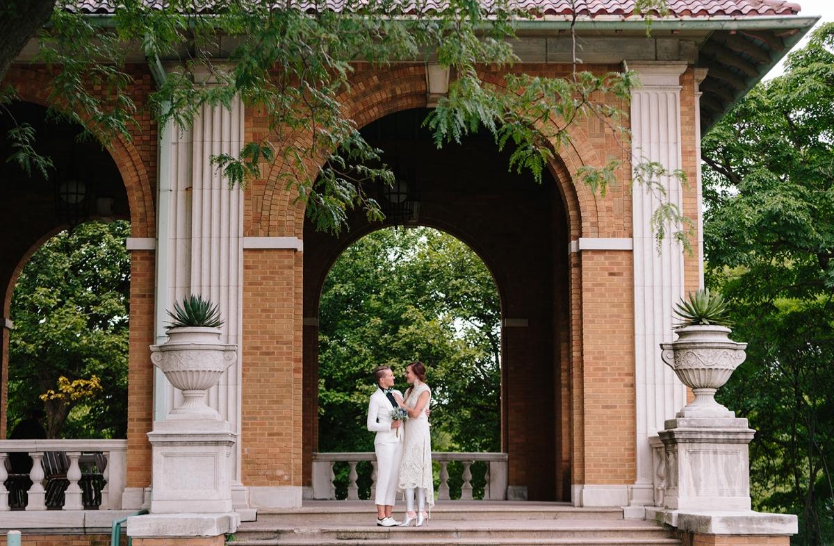 Chicago Lesbian Wedding Columbus Park Refectory