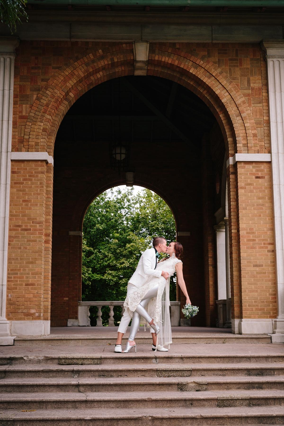 Chicago LGBT Wedding Columbus Park Refectory