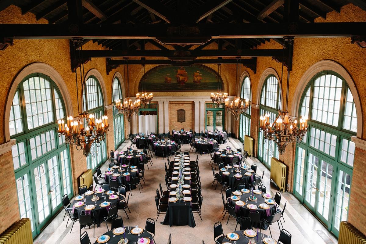 Chicago Columbus Park Refectory Wedding Reception