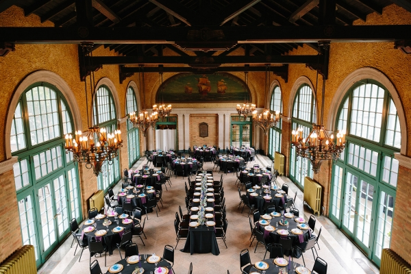 Chicago Columbus Park Refectory Wedding Reception