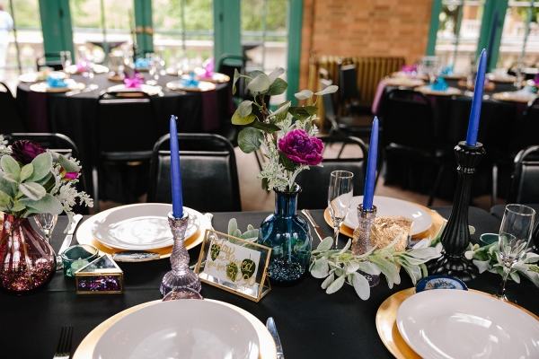 Jewel Tone Wedding Centerpiece