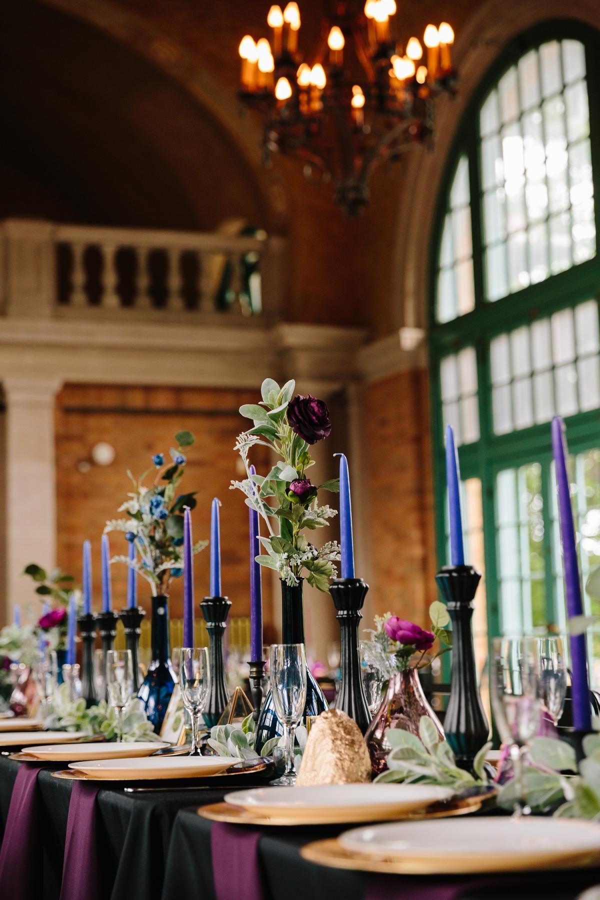 Jewel Tone Wedding Centerpiece
