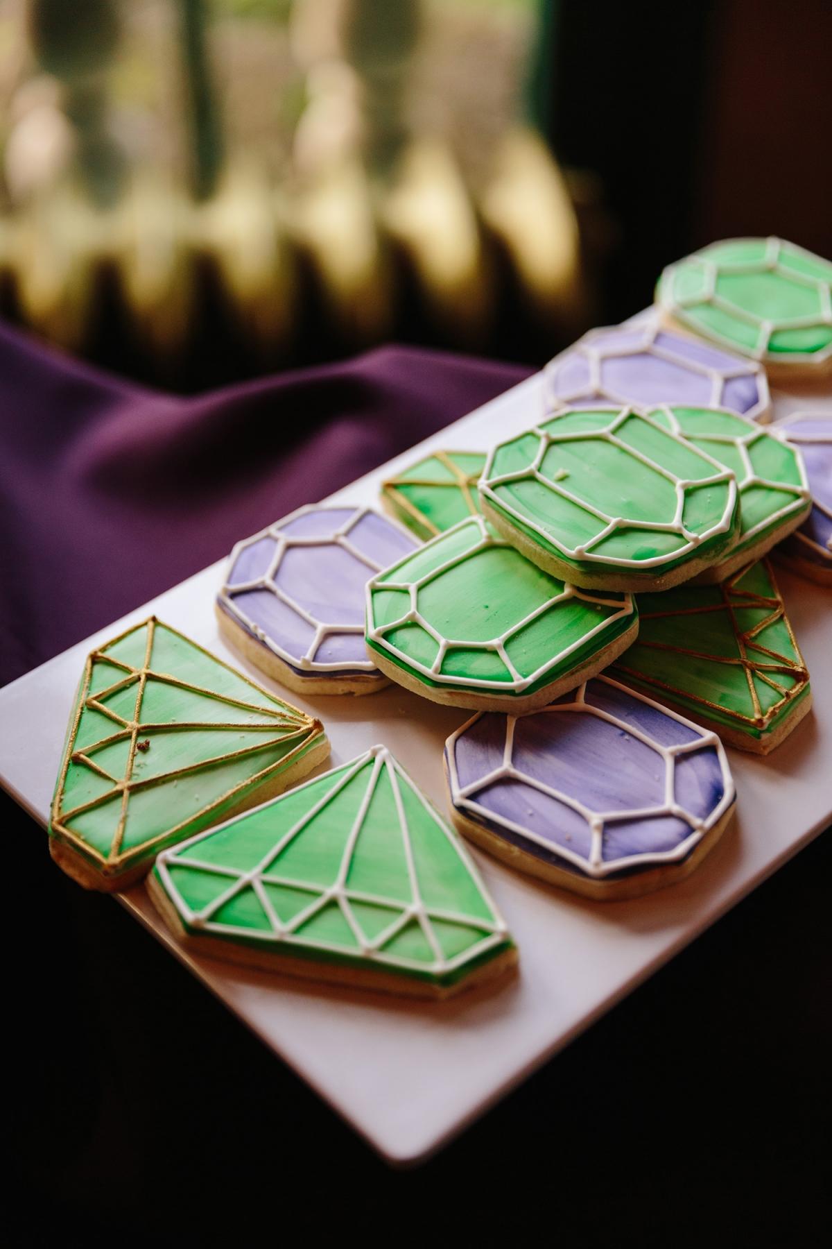 Diamond Wedding Cookies