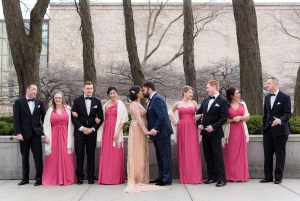 Art Institute of Chicago Wedding Gold Grid Studios (11)