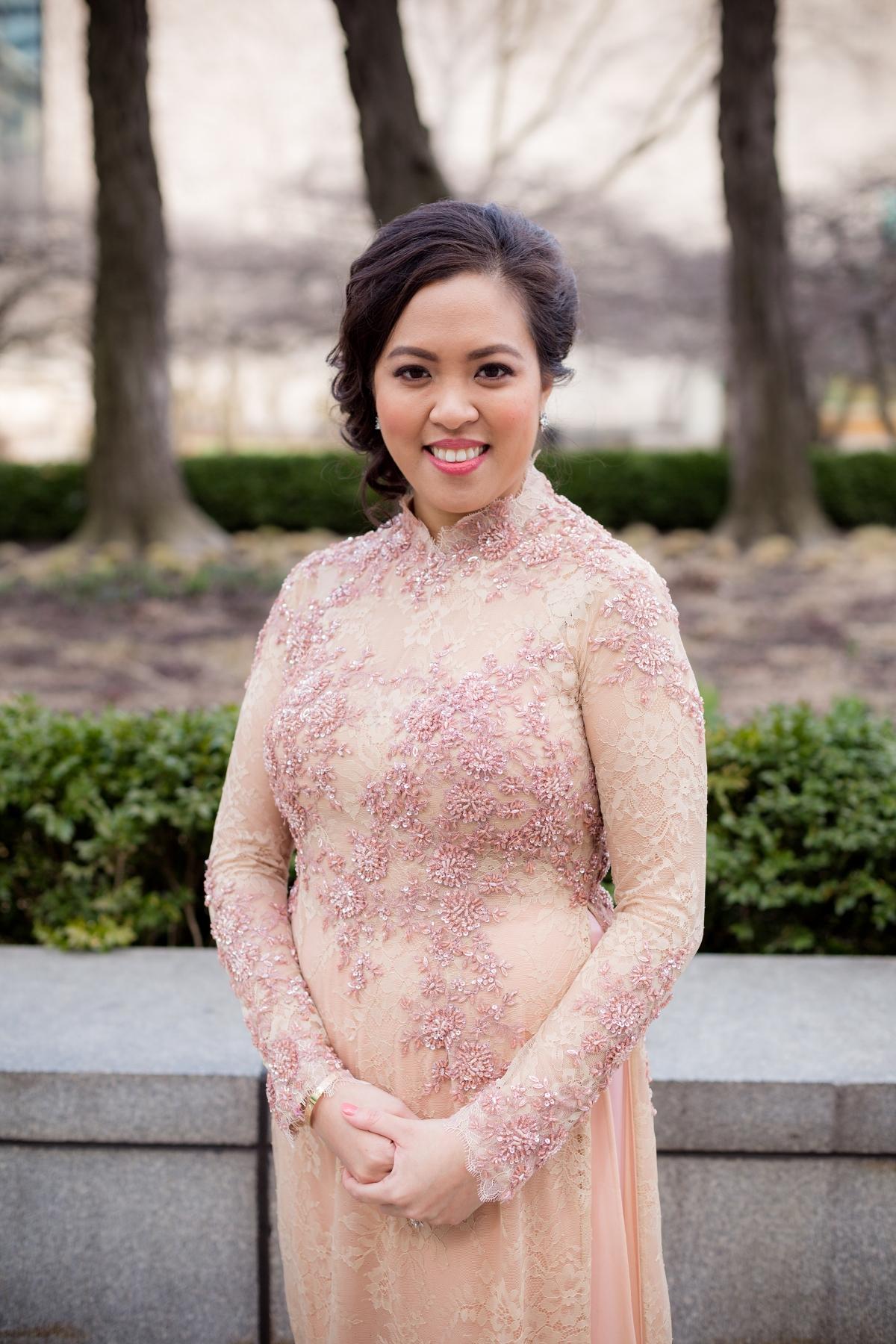 Bride in Vietnamese Ao Dai