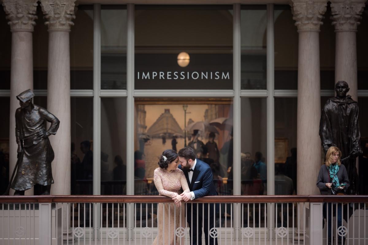 Art Institute of Chicago Wedding Gold Grid Studios