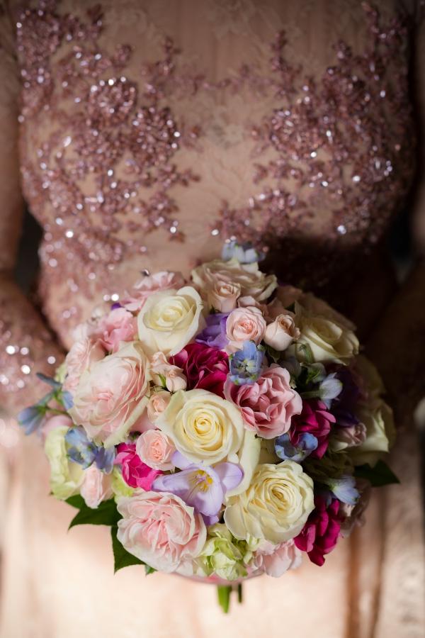 Bride in Pink Dress
