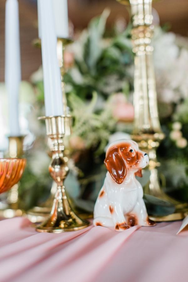 Dog Figurine in Wedding Centerpiece