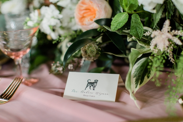 Dog Place Card for Wedding