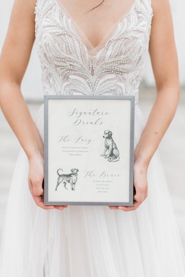 Dog Signature Drinks at Wedding
