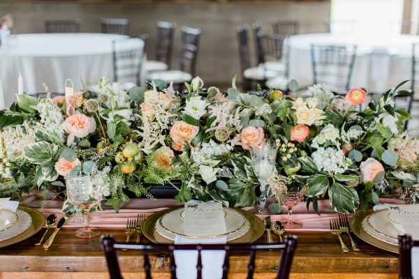 Romantic Pink and Gold Wedding Table Chicago Wedding (14)