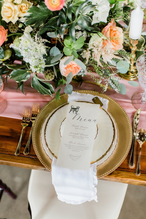 Romantic Pink and Gold Wedding Table Chicago Wedding (2)