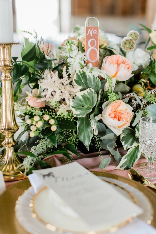 Romantic Pink and Gold Wedding Table Chicago Wedding (5)