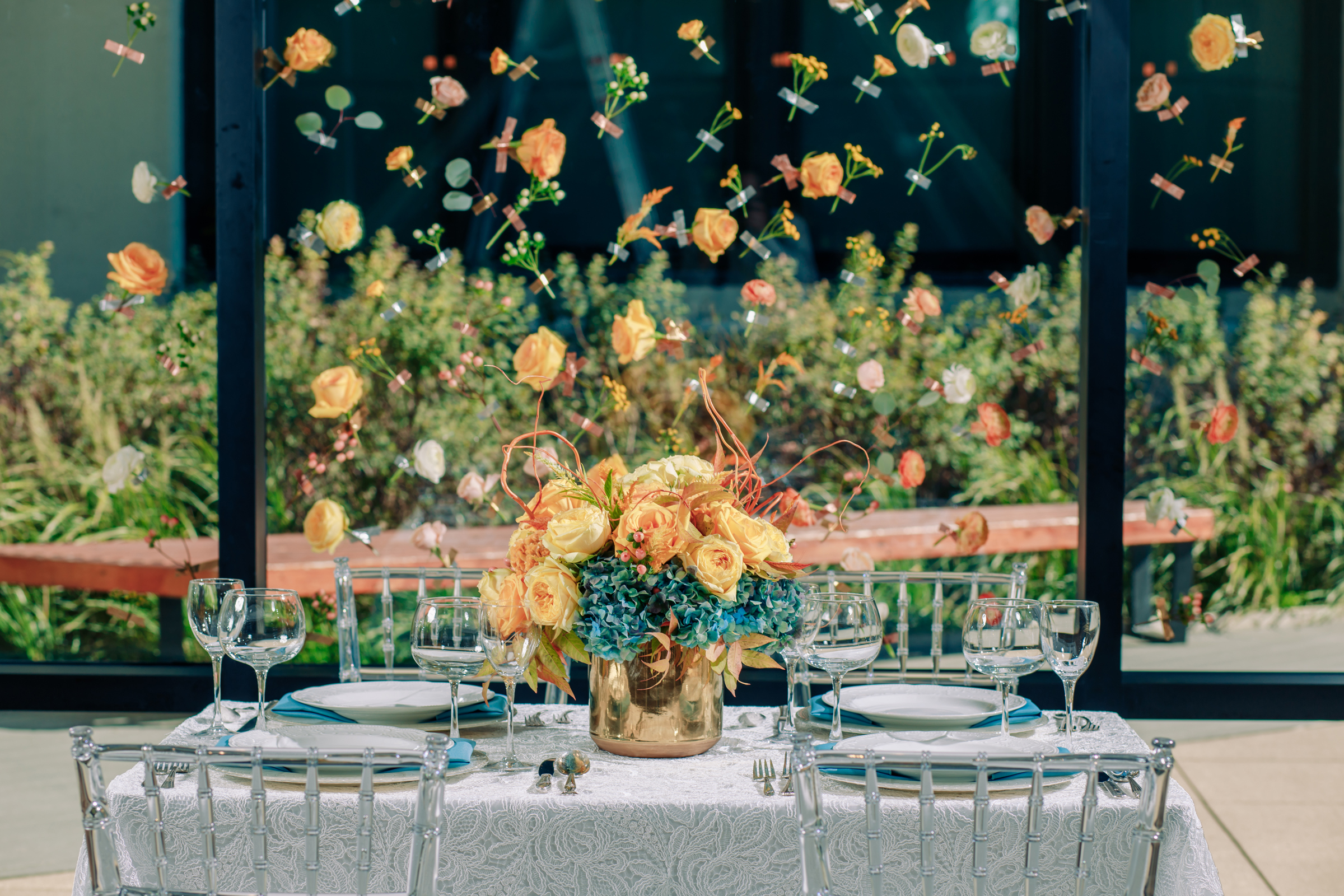 Floating Flower Wedding Backdrop