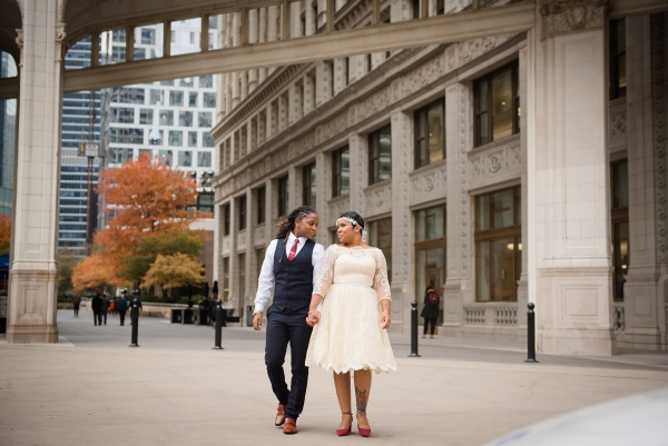 Chicago Courthouse Wedding Elopement same sex couple