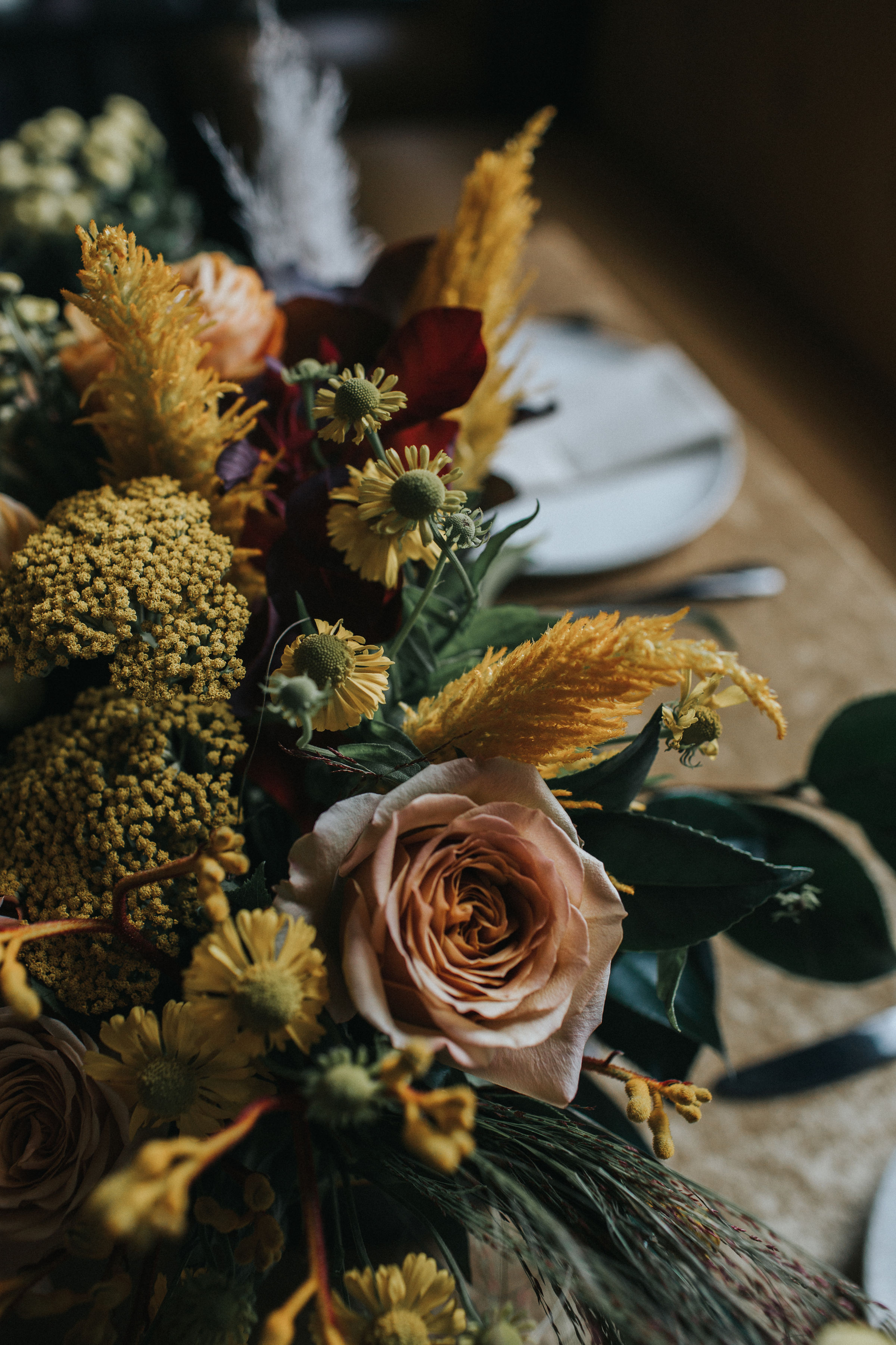 Warm Colorful Retro Mod Chicago Wedding Inspiration at The Duck Inn (12)