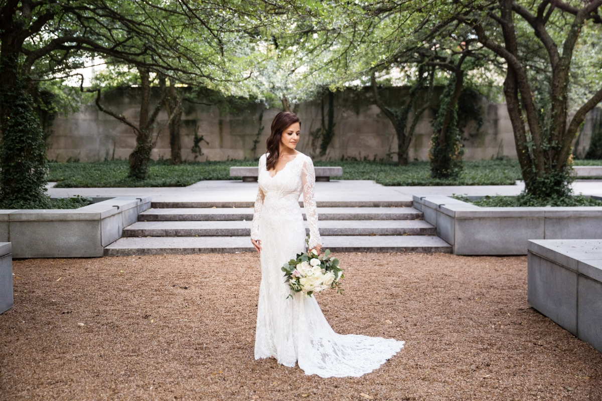 Bride in Lili Hod from Dimitra's Bridal