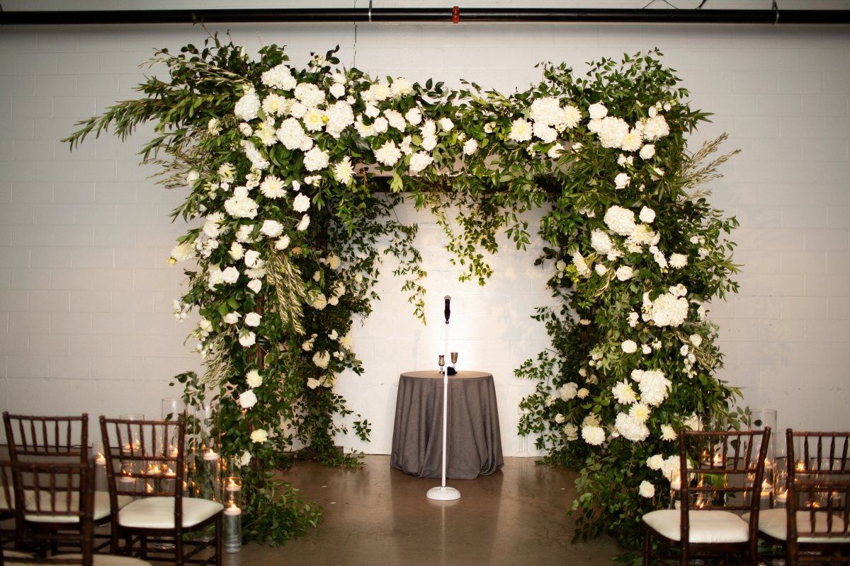 Elegant Greenery Wedding Arch