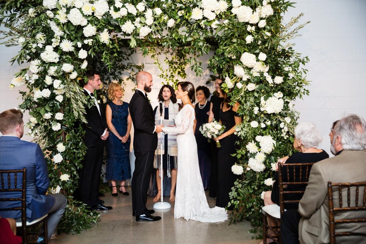 Elegant Greenery Wedding Arch
