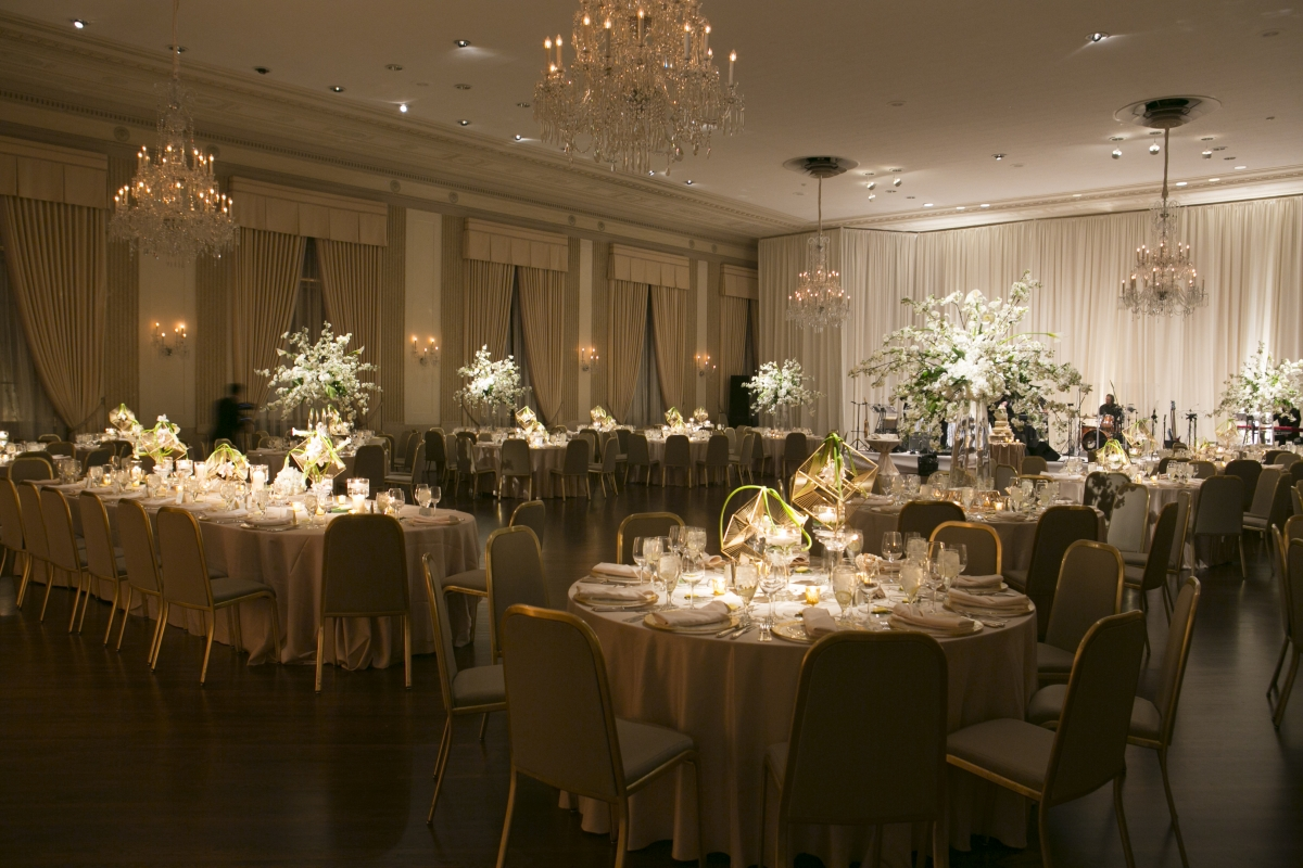 White and Gold Wedding at The Standard Club