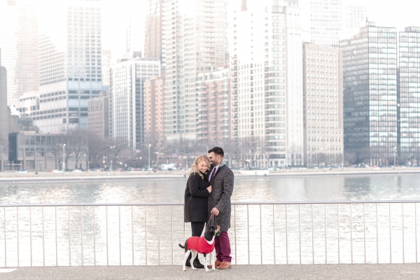 Surprise Proposal in Olive Park Chicago