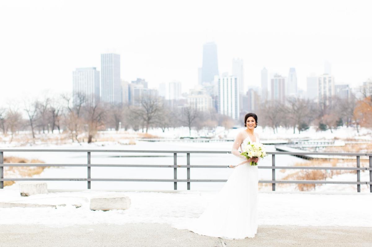 Chicago Winter Bride