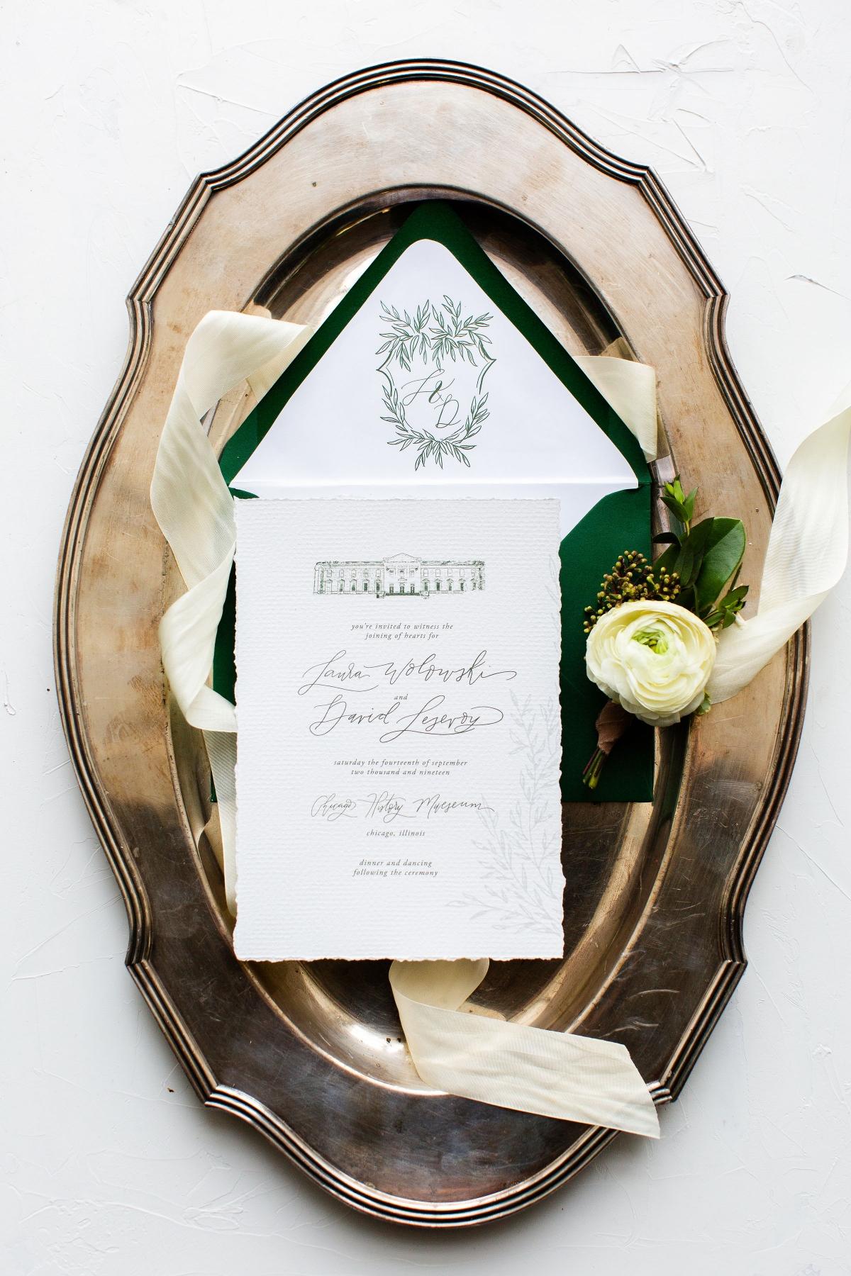 Wedding Invitations with Custom Crest