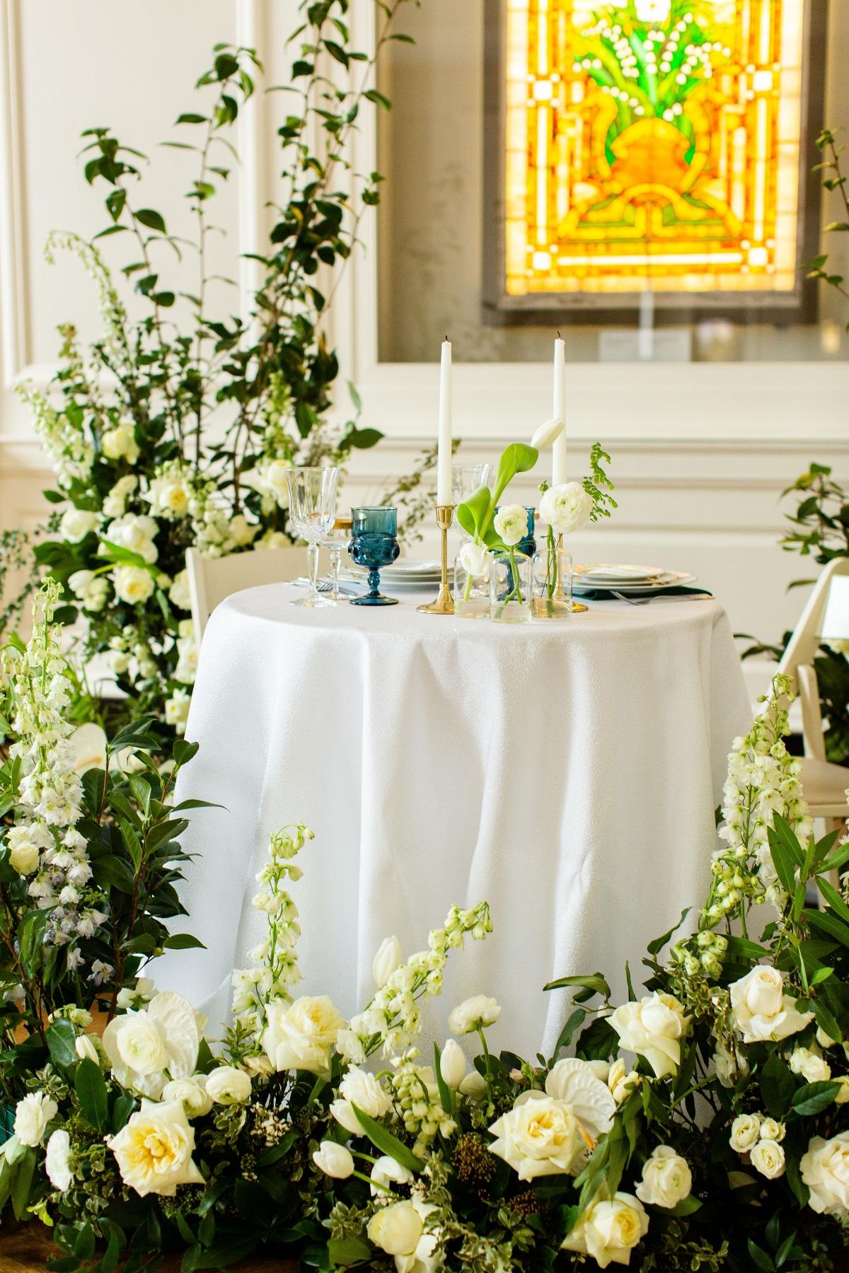 Chicago History Museum Wedding Inspiration Emerald Green